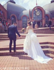 クラシカルドレス プリンセスドレス バッスルスタイル 海外婚